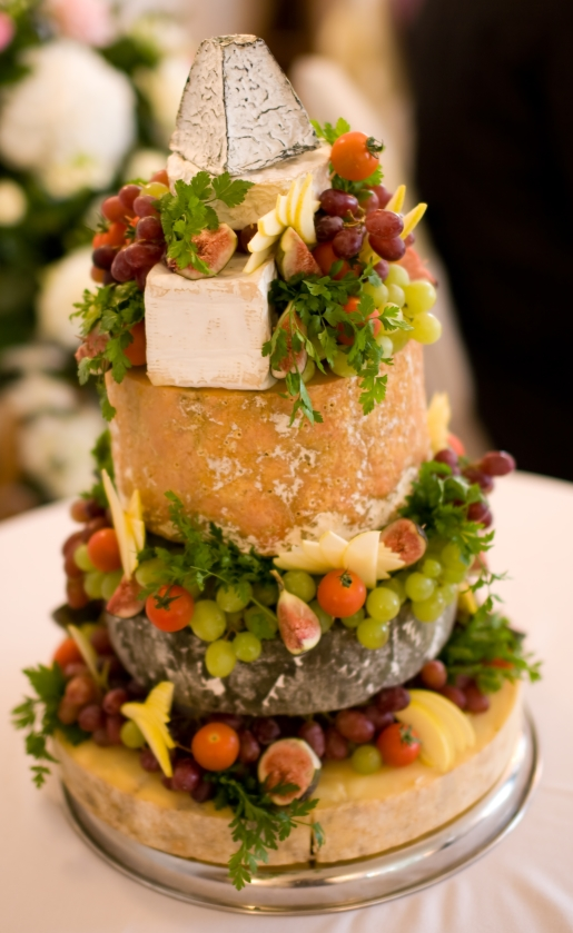 In This Beautifully Decorated Cheese Cake Tower